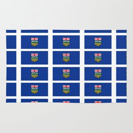 Flag of alberta -albertan,calgary,edmonton,athabasca,wild rose,berta,Louise. Rug