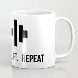 Eat Sleep Lift Repeat - Dumbell with bodybuilder slogan Coffee Mug