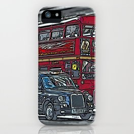 London bus and cab iPhone Case