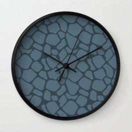 Charcoal Rock Pattern Wall Clock