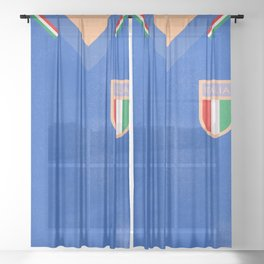 Vintage world cup jersey, 1982 Italy football team shirt, Paolo Rossi, retro football shirt Sheer Curtain