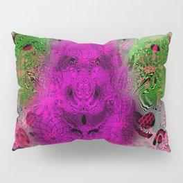 Grape Gorilla Man (abstract, psychedelc, op art, halftone) Pillow Sham
