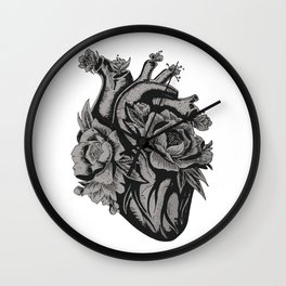 My Floral Heart Wall Clock