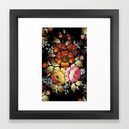 National flowers ornament Framed Art Print