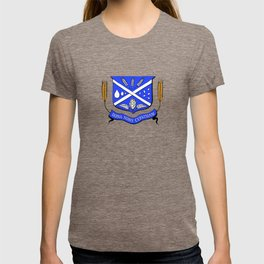 Give Us Beer College Emblem with Latin Script T-shirt