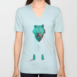 Wolf With F**king lasers Unisex V-Neck
