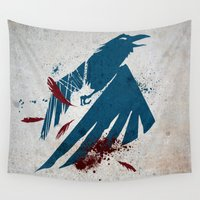 infamous Wall Tapestries featuring inFamous Second Son Good Karma by Kyrsten Carlson