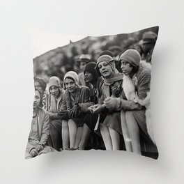 Jazz Age African American 1920's era flappers black and white photograph - art photography Throw Pillow