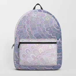Pale Flower Mandala Backpack