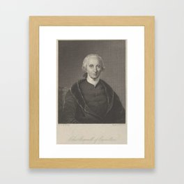 Asher Brown Durand, 1796–1886, Charles Carrol of Carrolton Framed Art Print