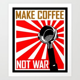 Japanese Propaganda Coffee Poster Art Print