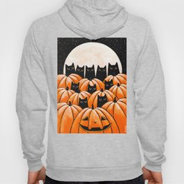 Black Cats in the Pumpkin Patch Hoody