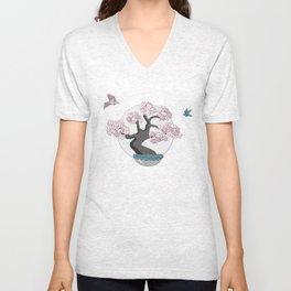 Birds like Bonsai Unisex V-Neck