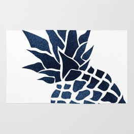 Pineapple, Big Blue, Denim Navy Rug