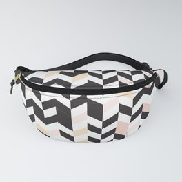 Vertically Arrows pattern black pink Fanny Pack
