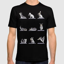 Miniature Schnauzer yoga T-shirt