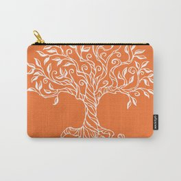 Tree of Life Orange Carry-All Pouch
