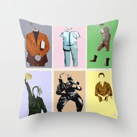 bill Throw Pillows featuring Mr Bill by T.E.Perry