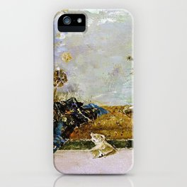 The Painters Children, Maria Luisa And Mariano, In The Japanese Room iPhone Case