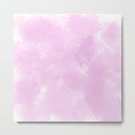 Light pink watercolor Metal Print