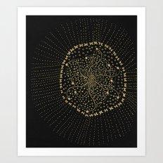 GOLD NO.3 Art Print