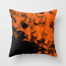 Dirty orange abstract Throw Pillow