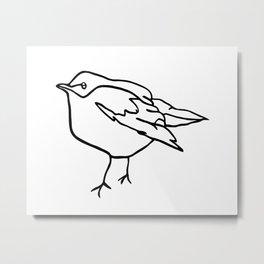 Bird line drawing Metal Print
