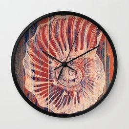 The Coral of The SeaShell Wall Clock