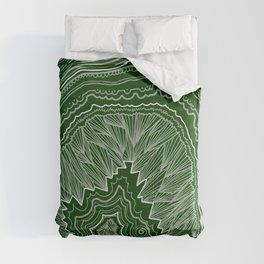 Forest Green Geode Comforters