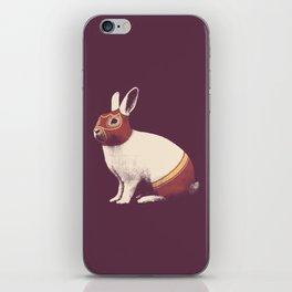Lapin Catcheur (Rabbit Wrestler) iPhone Skin