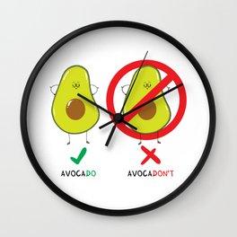 AvocaDO & AvocaDON'T Wall Clock