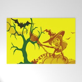 Sassy Little Witch Welcome Mat