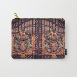 Royal Coat of Arms on the Gates of Buckingham Palace London Carry-All Pouch