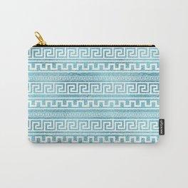 Gentle Blue Greek Meander Pattern on glass Carry-All Pouch