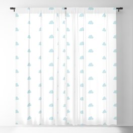 Baby blue small clouds pattern Blackout Curtain