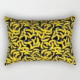 Bananananananna Black Rectangular Pillow