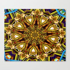 Lovely Healing Mandalas in Brilliant Colors: Gold, red, blue, black, light blue Canvas Print