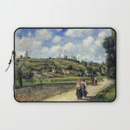 Camille Pissarro Landscape near Pontoise, the Auvers Road Laptop Sleeve