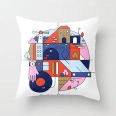 City Tram Throw Pillow