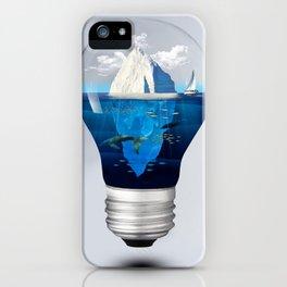 Iceburg in a Light Bulb iPhone Case