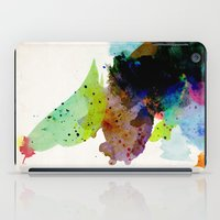 bird iPad Cases featuring Bird standing on a tree by contemporary