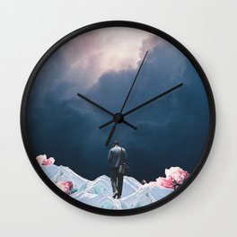 The Path to Solitude is full of Winter Roses Wall Clock