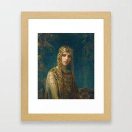 """Gaston Bussiere (French, 1862-1929), """"Isolde"""". Framed Art Print"""