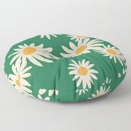 Retro Daisy pattern  Floor Pillow