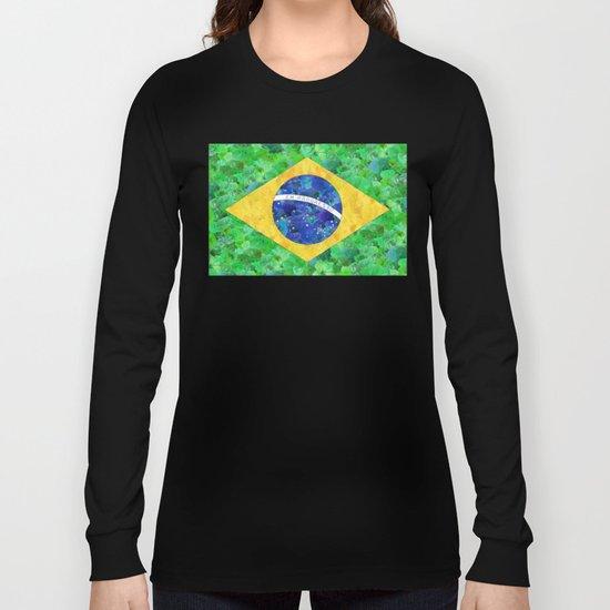 BRASIL em progresso Long Sleeve T-shirt