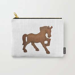 wooden brown horse Carry-All Pouch