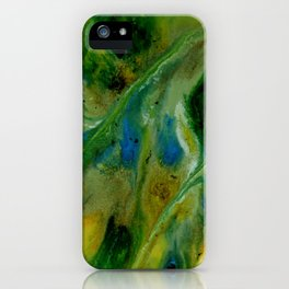 Abstract, Yellow, Green, Blue (CA17020B) iPhone Case