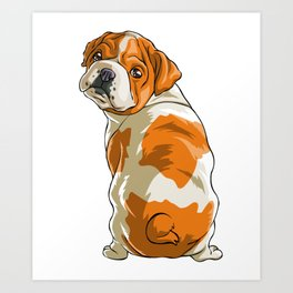 Bulldog Funny Pet Puppy Dog Lover Art Print