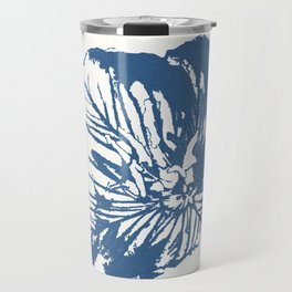 Mexican Primrose Minimal-Nature Blue Travel Mug