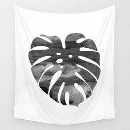 Watercolor Monstera Leaf Wall Tapestry
